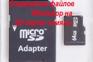 Сохранение файлов WhatsApp на SD карту памяти